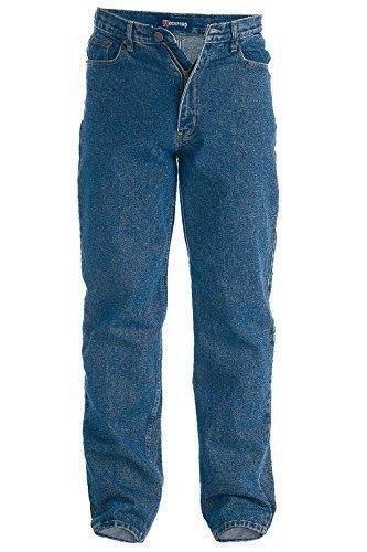 Duke Rockford RJ510 Comfort Herren Stonewashed Jeans - STEIN VORGEWASCHEN BLAU, WAIST 42 INSIDELEG 30