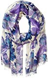 BADGLEY MISCHKA Women's Mirror Floral Print Scarf, Lilac/Blue Multi, One Size