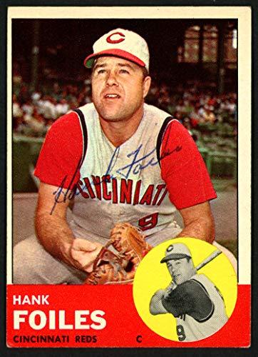 (Hank Foiles Autographed 1963 Topps Card #326 Cincinnati Reds SKU #149804)
