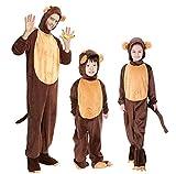 Animal Cosplay Halloween Monkey Costumes Parent-child Hooded Pyjamas Suit