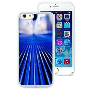 NEW Unique Custom Designed iPhone 6 4.7 Inch TPU Phone Case With Moving Walkway Blue Stripes Close Up_White Phone Case wangjiang maoyi