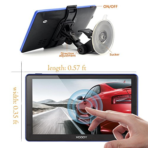 Xgody 886 7 Inch 8GB RAM Built-in / 256MB ROM Capacitive Touchscreen with Sunshade Spoken Turn-by-Turn Directions SAT NAV Car Truck GPS Navigation Lifetime Map Updates Speed Limit Displays by XGODY (Image #2)