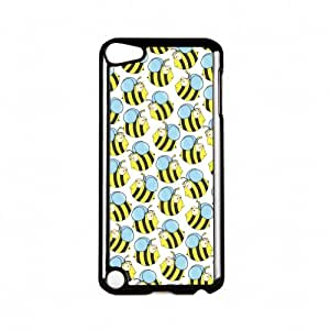 Bumble Bees Black Hard Plastic Case Snap-On Protective Back Cover for Apple? iPod Touch 5th Gen by Nick Greenaway + FREE Crystal Clear Screen Protector
