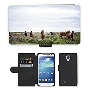 Super Stella Cell Phone Card Slot PU Leather Wallet Case // M00104959 Horses Iceland Icelandic Animals // Samsung Galaxy S4 S IV SIV i9500