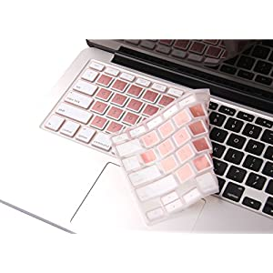 "CaseBuy Rose Gold MacBook Pro Keyboard Cover Skin for MacBook Pro 13"" 15"" 17""(with or w/out Retina Display, 2015 or Older Version) and MacBook Air 13 Inch"
