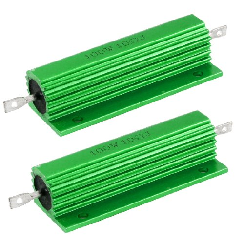 (uxcell 100W 10 Ohm Screw Tap Mounted Aluminum Housed Wirewound Resistors 2)