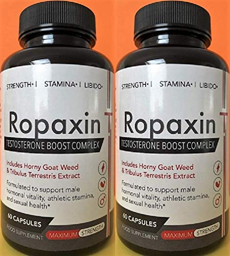 Ropaxin T Testosterone Booster 2X 60 Capsules 2 Month Supply: Amazon