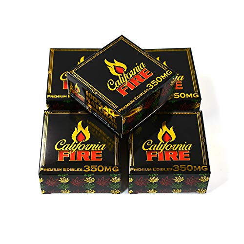 EMPTY California Fire Display Boxes Packaging for Edibles 3 x 3