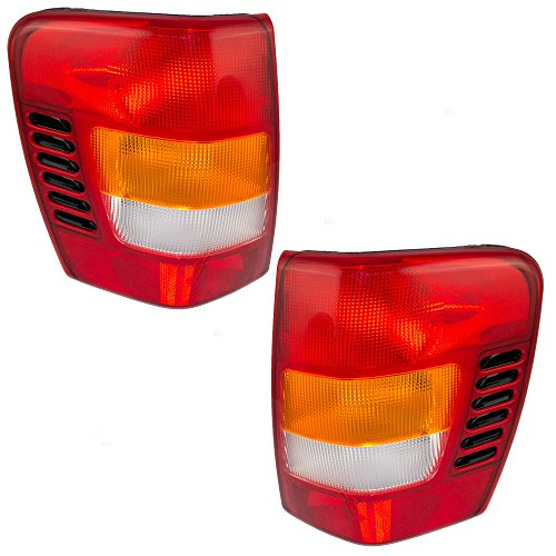 Driver and Passenger Taillights Tail Lamps with Circuit Boards Replacement for Jeep Grand Cherokee 5101897AB 5101896AB Oem Tail Light