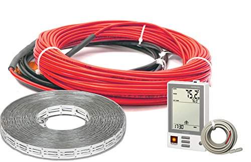 (Heatwave Floor Heating Cable 240V (32-60 Square Feet) with Ground Fault Programmable Thermostat )
