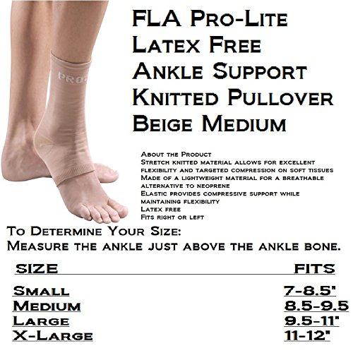 ProLite® Compressive Knit Ankle Support Series 40-400 Medium Beige (Series Lite Pro)