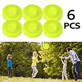 Flying Disk Zip Chip Disc Clips Zipchip Pocket Frisbee Pack for Men Kids Mini Pocket Flexible Soft New Spin in Catching Game Flying Disc Catch Game Beach Outdoor Toys (6 Pcs)