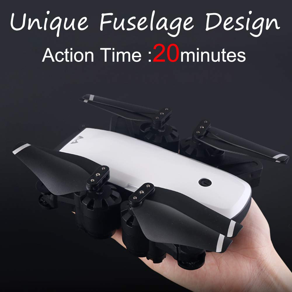 Hot  SMRC S20 RC Quadcopter 2.4GHz 1080P 120°Wide-Angle HD Camera 6-axis Helicopter Foldable Selfie Drone - Headless Mode,One Auto Return Key, Flying Around by Hisoul (Image #3)