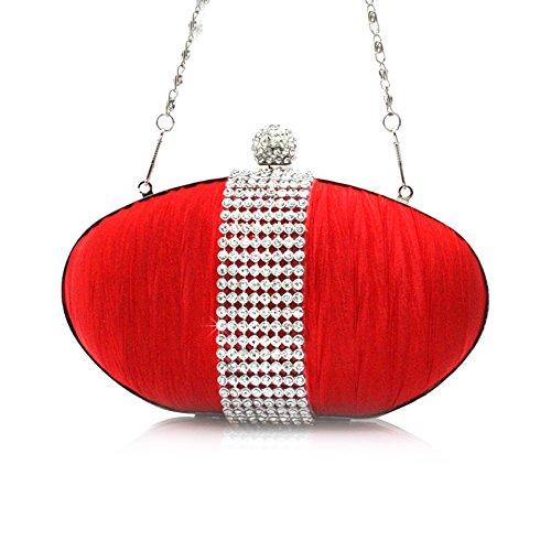 HT Evening Bag - Cartera de mano para mujer morado
