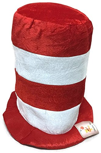 Girls The Hat Costume Cat In (Dr. Seuss hat, Cat in the Hat, red and white striped hat for)