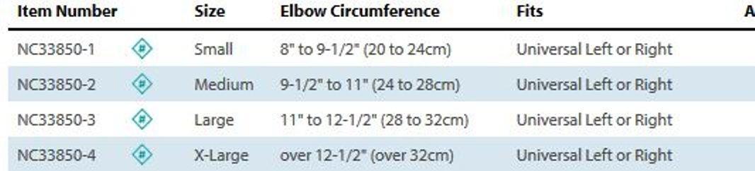 Comfort Cool Ulnar Nerve Elbow, Size: M