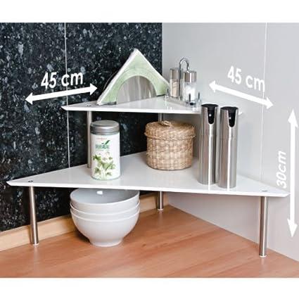bremermann® Corner Kitchen Shelf, Kitchen Shelving, Spice Rack, white