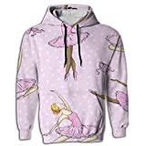 MCPWY Art Ballet Mens Sleeve Hoodie Personalized Male Mens Hoodies Unique Color Sweatshirt Men