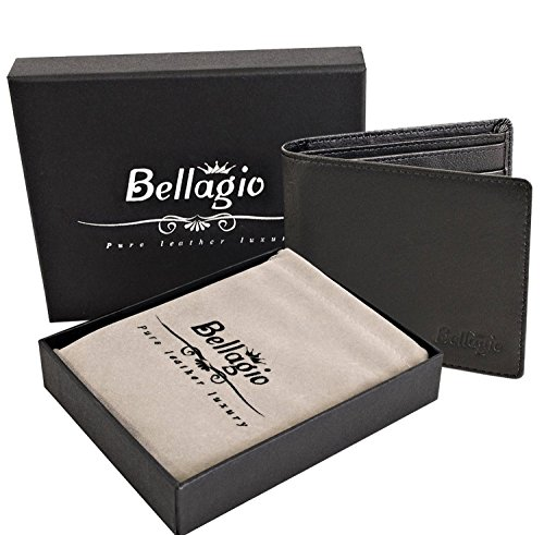 Premium Leather Wallet for Men in Gift Box - Bifold Wallet with RFID Protection - Perfect Gift for Men - Black