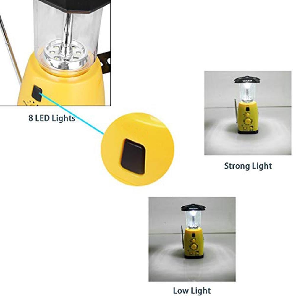 Seatechlogy Solar LED Bulb Emergency Lamps Camping Light, Multifunction Hand Crank Power, Solar Emergency Light, Portable Light, AM/FM Radio, Can Listen Music, News by Seatechlogy (Image #6)