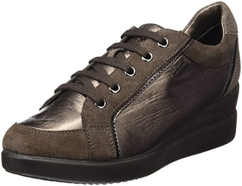 Geox Womens Stardust 18 Fashion Sneaker Chestnut/Lead 4KrNc1sgXG