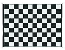 Camco 42827 Reversible Outdoor Mat (9\' x 12\', Checkered)