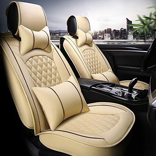 Car Seat Cover Sets, Universal Side Airbag Seat Covers Suitable for Leather Car Seats, Fits 5 Seats, Set of 9: