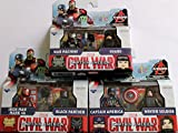 Marvel Minimates Series 66 Set of 3 Civil War 2 packs: Captain America, Winter Soldier, Iron Man Mark 46, Black Panther, War Machine & Navy Seal