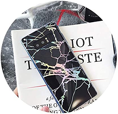 Amazon.com: Marble Case for Samsung Galaxy S9 S8 S10 Plus Note 9 8 Laser Case Ultra Thin Soft Silicone Case Cover for S7 Edge Funda,Black,for Samsung S7: ...