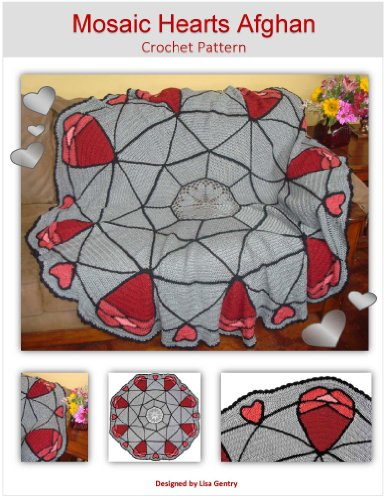 Mosaic Hearts Afghan - Crochet Pattern - Valentine's Day Crochet