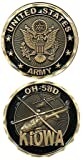 United States Military US Armed Forces Army OH-58D Kiowa Helicopter - Good Luck Double Sided Collectible Challenge Pewter Coin by Eagle Crest