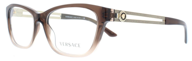 259d0b1e080 Versace Eyeglasses VE 3220 5165 Transparent Brown Size 54 Amazonca Clothing  Accessories