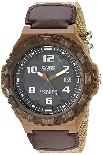 Casio Men's MRW-S300HB-5BVCF Solar Watch with Beige Band - Casio Watch Canvas
