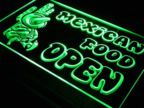 Open Mexican Food Cactu Bar LED Sign Neon Light Sign Display i101-g(c) - Mexican Food Neon Sign