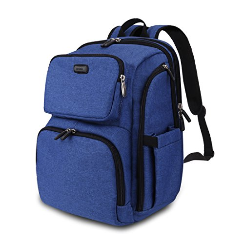 Professional Baby Diaper Backpack with Stroller Straps and Changing Pad, Anti-water and Durable Travel Diaper Bag for Baby Care, 30L Large Capacity Travel Backpack (navy blue)
