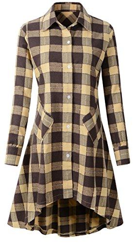 high low brown dress - 3