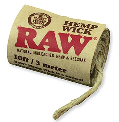 Raw Natural Unbleached Rolling Papers   Hemp   Beeswax Hempwick Roll 10Ft   3 Meters