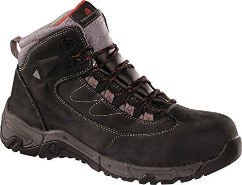 Panoply Mens Ohio 2 S3 Hro Src Work Safety Black Nubuck Leather Trainers Boots With Non Metallic Composite Toe Cap And Midsole US Size 10 ()