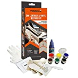 Visbella DIY Leather and Vinyl Repair Kit, Do It Yourself Tool Fix Holes, Rips, Upholstery Jacket, Leather Car Seat, Automotive and Household Adhesive