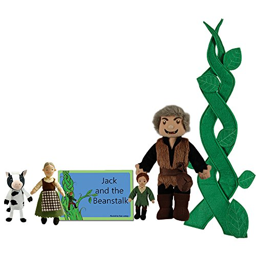 The Puppet Company Traditional Story Sets Jack & The Beanstalk Book and Finger Puppets Set