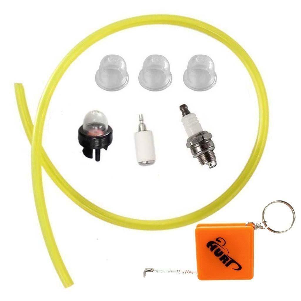Huri Fuel Line Primer Bulb Filter Spark Plug For Husqvarna Trimmer 125l 125e 128l 128ld