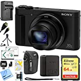 Sony Cyber-Shot DSC-HX90V/B DSC-HX90V DSC-HX90 DSCHX90B HX90 Digital Camera Black 64GB Bundle includes Screen protectors, carrying case, 64GB memory card, card reader, mini tripod, battery, HDMI cable and Beach Camera Cloth Review
