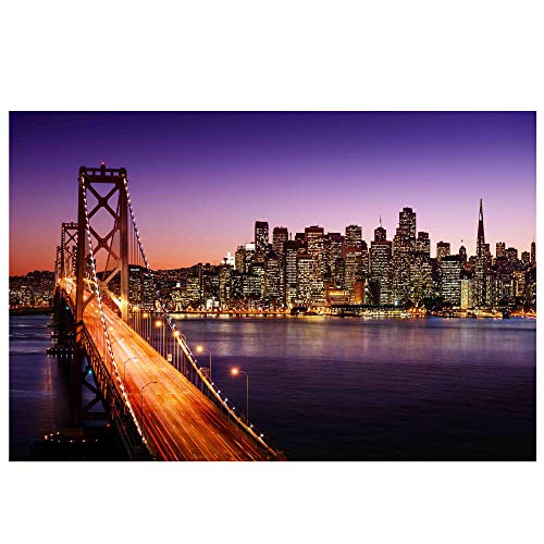Northlight LED Lighted Famous San Francisco Oakland Bay Bridge Canvas Wall Art 15.75