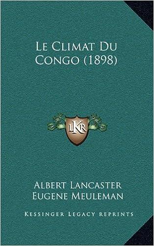 Book Le Climat Du Congo (1898)