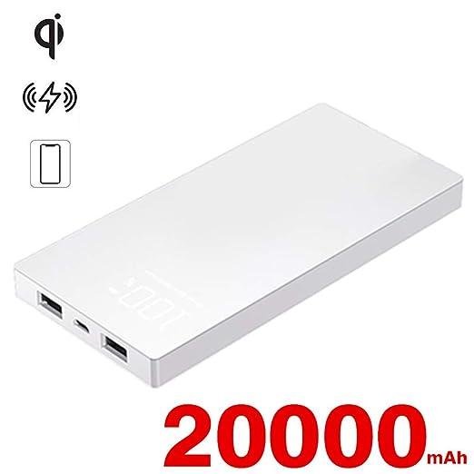 Cargador Inalámbrico, Batería Externa 20000mAh Cargador ...