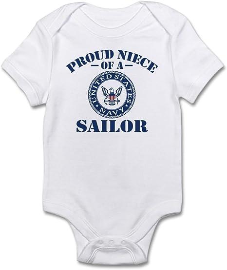 Navy Proud Broth Baby Bodysuit CafePress U.S