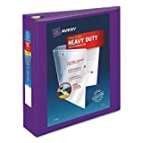 Avery 79777 Heavy-Duty View Binder w/Locking EZD Rings 2'' Cap Purple