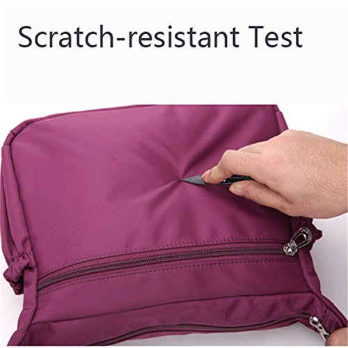 Light JOSEKO Black Shoulder Purple Multi for Bags Women Outdoor Bags Travel Crossbody Casual Pockets Waterproof Dark rrqtRZ