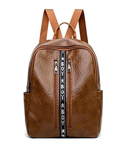 Bowler Handbag Small (Women Fashion Backpacks Totes Handbags Shoulder Bags Top-Handle School Laptop Daypack PU Leather Brown)