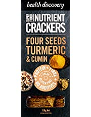 Health Discovery Paleo Four Seeds Turmeric and Cumin Nutrient Crackers, 150g